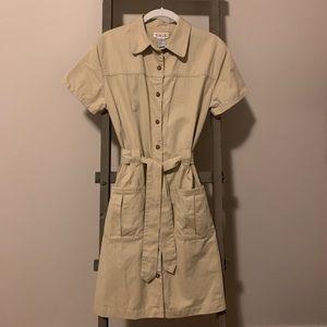 Classic Khaki Button Up Dress